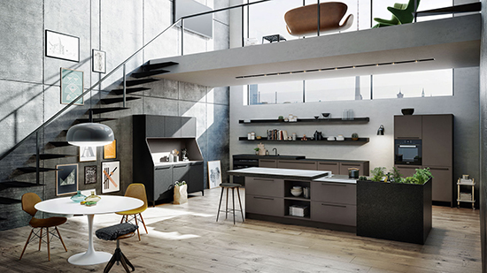 moderne Küchenarchitektur in  Monrepos (Ludwigsburg)